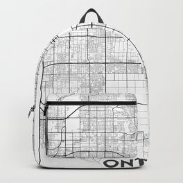 Minimal City Maps - Map Of Ontario, California, United States Backpack