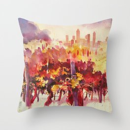 Vineyard at San Gimignano Throw Pillow