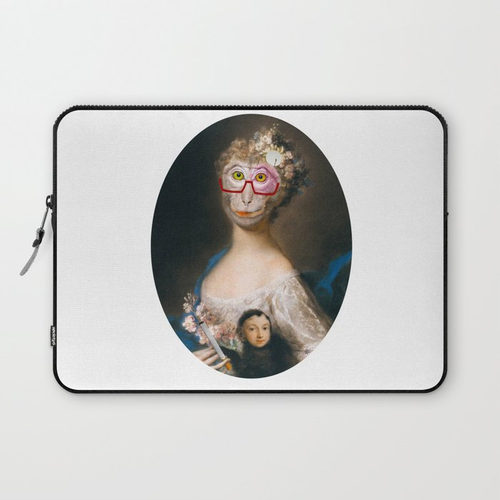 Rosalba Carriera - Young Woman with an Ape? Laptop Sleeve