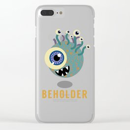 Beholder! Clear iPhone Case