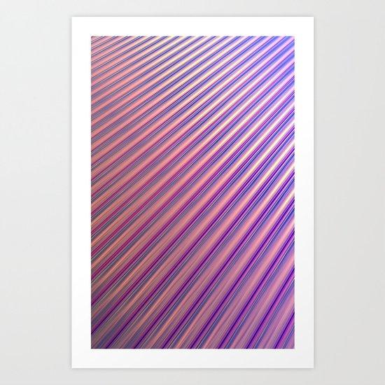 Pink, Shiny, Diagonals Art Print