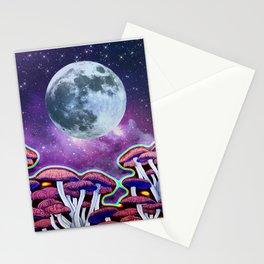 Moon Mushrooms Stationery Cards