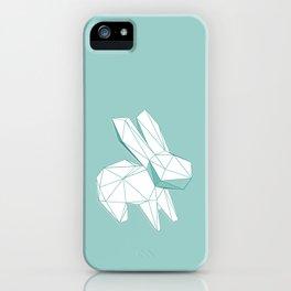 geometric rabbit iPhone Case