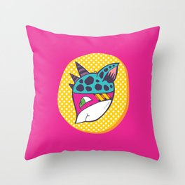 Three Horned Thief Throw Pillow