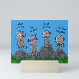 Dirty Little Monkeys Mini Art Print
