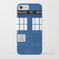 tardis iPhone & iPod Cases featuring Tardis by Freak Clothing