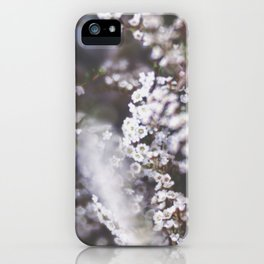 The Smallest White Flowers 01 iPhone Case