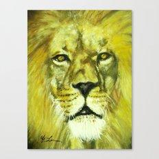 Wildlife Painting Series 2 - Mesmerizing Lion King Canvas Print