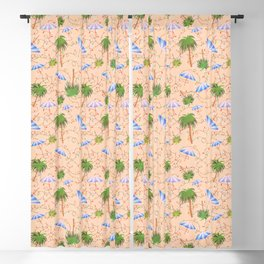 Palm Tree Holiday Blackout Curtain