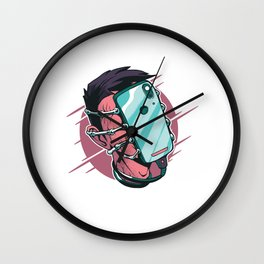 Face Phone Hugger Wall Clock