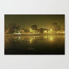 Pond at Night Canvas Print