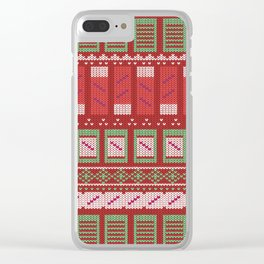 histology christmas Clear iPhone Case