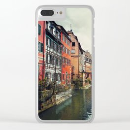 Strasbourg canals Clear iPhone Case
