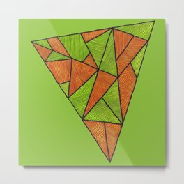 Orange loves green Metal Print