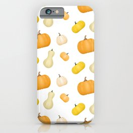 Pumpkins & Squash Pattern iPhone Case