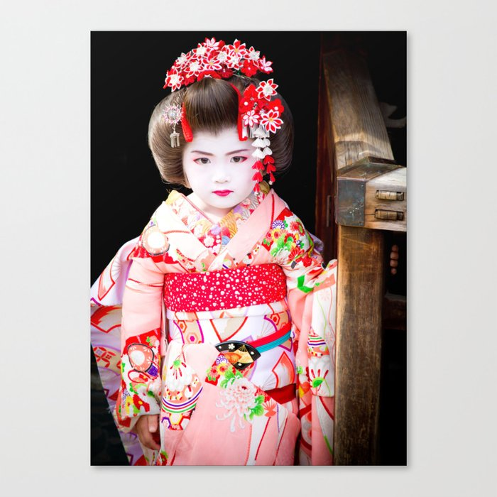Japanese geisha girl Canvas Print