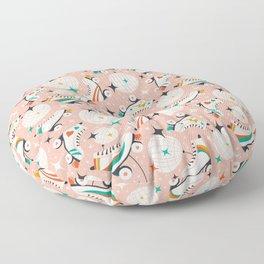 Roller Disco Pink Floor Pillow