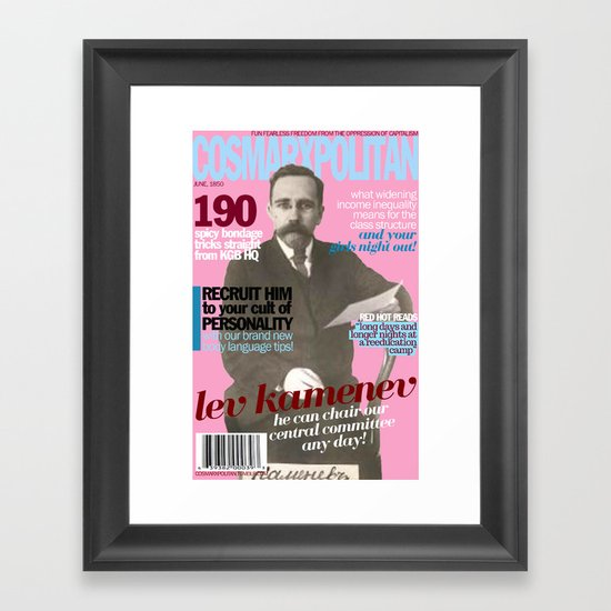 COSMARXPOLITAN, Issue 11 Framed Art Print