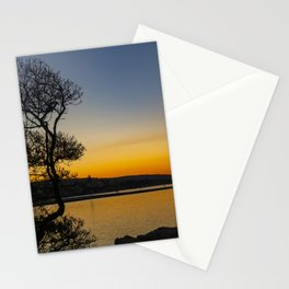 The Wedge Tree at Dawn Stationery Cards
