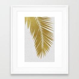 Palm Leaf Gold I Framed Art Print