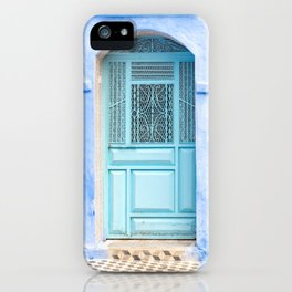 Doors - Chefchaouen VI - The Blue City, Morocco iPhone Case
