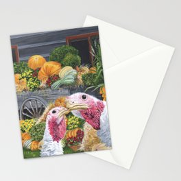Fall Turkeys Stationery Cards