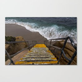 La Jolla Stairs Canvas Print