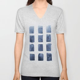Watercolor blue abstract  Unisex V-Neck
