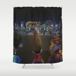 jimmy neutron astroworld Shower Curtain