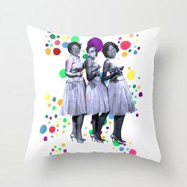 The Supremes: RBG, Sonia Sotomayor and Elena Kagan Throw Pillow