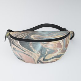 Liquid Gold and Rose Gold Marble Fanny Pack