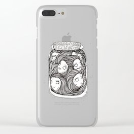 Bottled up emotions Clear iPhone Case