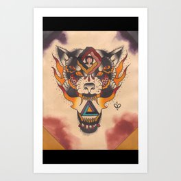 The mark of the beast  Art Print
