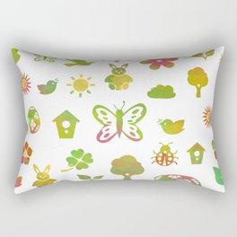 Spring Theme Rectangular Pillow