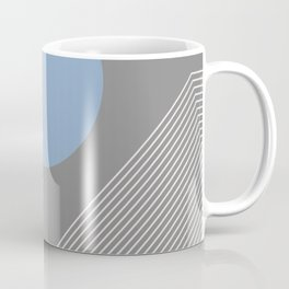 Earth And Moon - Mid-Century Minimalist Coffee Mug