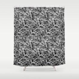 Sculpture Collage Pattern Shower Curtain