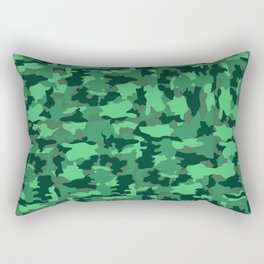 Green Army Camo Pattern Background Rectangular Pillow