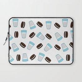 Oreo and milk pattern Laptop Sleeve
