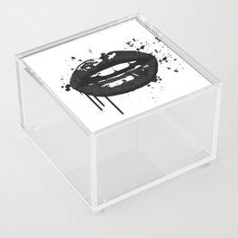 Black and white glamour fashion lips Acrylic Box
