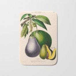 """Avocado from """"Flore d'Amérique"""" by Étienne Denisse, 1840s Bath Mat"""