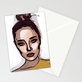 MessyBun don't care Stationery Cards