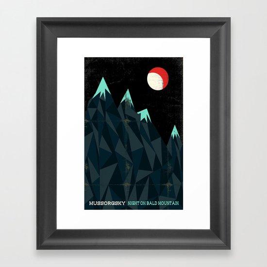 Night on Bald Mountain - Mussorgsky Framed Art Print