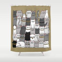 The Glaring - Scandinavian Palette Shower Curtain