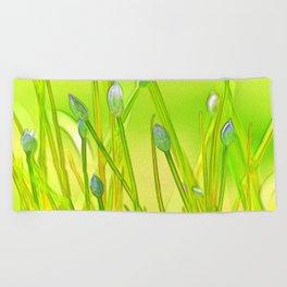 Allium 144 Beach Towel