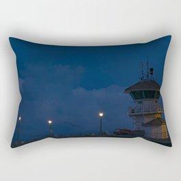 Full Moon Over Huntington Beach Pier Rectangular Pillow