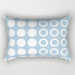 Mid Century Modern Circles And Dots Pale Blue 2 Rectangular Pillow