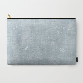 distressed chambray denim Carry-All Pouch