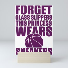 Forget Glass Slippers This Princess Wears Sneakers Basketball Mini Art Print