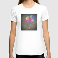 baloon T-shirts featuring Up up and away by Skye Zambrana