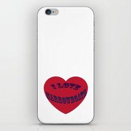 I love narrowboats heart iPhone Skin